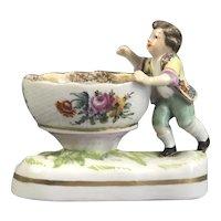 Meissen Style Salt Dish Antique C1780