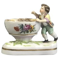 Meissen Style Salt Dish Antique C1780
