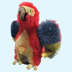 Small Steiff  'Lora' the Parrot Vintage c1965