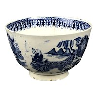 Blue & White Tea Bowl Staffordshire English Antique Georgian c1820