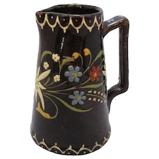 Small Thoune Majolica  Earthenware Jug Antique c1890.