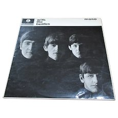 English Vinyl LP With The Beatles Vintage c.1963.