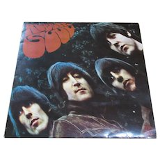 English Vinyl LP Rubber Soul By The Beatles Vintage c.1965.