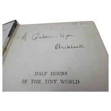Hardback Book Half Hours In The Tiny World Antique c.1882
