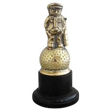 Vintage Little Art Deco 1930s Brass Golf Award