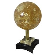 French Resin Fractal Sphere Sculpture By Pierre Giraudon Vintage c.1970s.