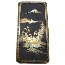 Japanese Damascene Cigarette Box Vintage c1930.