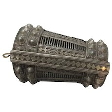 Silver Tribal Ethnic Chunky Arm Cuff Bracelet Antique Early 20th Century.