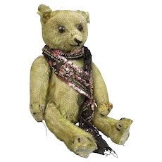 Small Well Loved Teddy Bear Vintage c1930