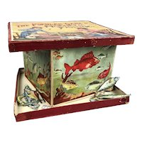 Magnetic Fishing Family Table Game Edwardian Antique c1910