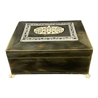 Lacquered Indian Wooden Jewellery Box Vintage c1930