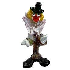 Medium Sized Art Glass Murano Clown Vintage