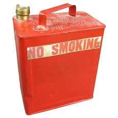 Red Valor Petroleum Spirit Gasoline Can Vintage c1950