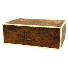 Burl Walnut Box Antique c1910