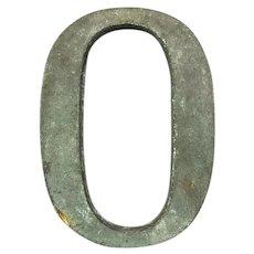 Bronze Display Initial Letter O Vintage c1980