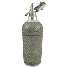 Wire Wrapped Soda Syphon Vintage Art Deco c1930