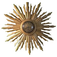 Gilded Sunburst Clock Antique c1900