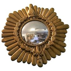 Gilded Laurel Crown Sunburst Mirror Antique c1900