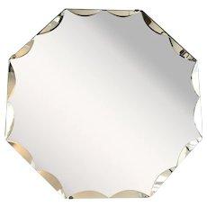Art Deco Octagonal Bevelled Mirror Vintage c1930