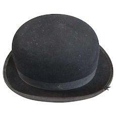 Woodrow London Bowler Riding Hat Vintage c1950