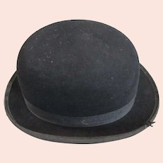 Woodrow London Bowler Riding Hat Vintage c1950