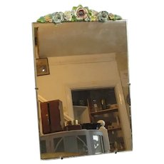 Barbola Table Top Mirror Vintage c1960