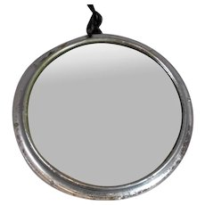 Small Internal Convex Mirror from an Old English Bus Vintage c1950s