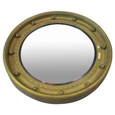 Gilt Porthole Convex Mirror Vintage c 1930