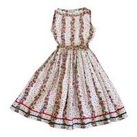 Berry Pleated Dress by Rembrandt Vintage c1960