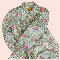 French Floral Dress by Gauthier-Corail Vintage c1975