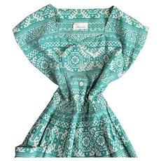 Cotton Dress by Atlantic Vintage c1960