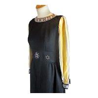 Folky Maxi Dress Vintage c1965