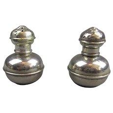 Pair Of Sterling Silver Pepper Pots Vintage London 1926.