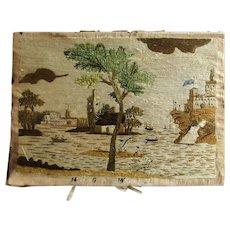 Antique 18th Century English Needlework Picture