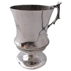 Small Silver Engraved Cup Vintage.