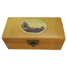 British Wooden Box Miniature Antique c.1890-1899.