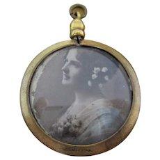 English Gold Shell Pendant Antique Victorian.