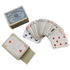French Miniature Playing Cards Vintage 20th Century.