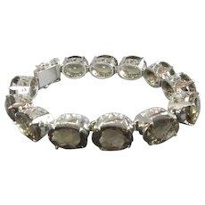 Smokey Quartz Sterling Silver Bracelet Contemporary