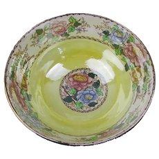 Maling Pottery Peony Bowl Vintage Art Deco c1930