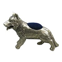 Sterling Silver Dog Pin Cushion Vintage c1980