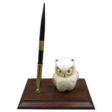 Novelty Owl Pen Holder Vintage c2000
