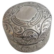 Sterling Silver Screw Top Pill Pot Antique