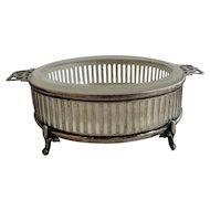 English Sterling Silver Butter Dish Birmingham 1920