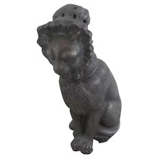 Spelter Cat Wearing Bonnet Pounce Pot Antique Victorian c,1880.