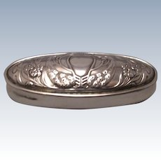 English Sterling Silver Box Hallmarked Chester 1901 Antique