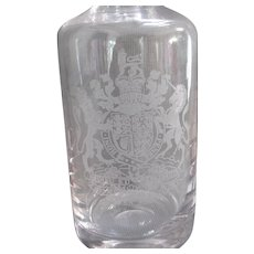 Wedgwood Lead Glass 1952-1977 Queen Silver Jubliee Royal Decanter Vintage.