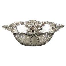 Stirling Silver Bon Bon Dish Antique Art Nouveau Birmingham 1904