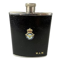 Royal Air Force Lip Flask Vintage Art Deco c1930