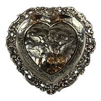 Sterling Silver Heart Shape Tray Antique Victorian Birmingham 1898